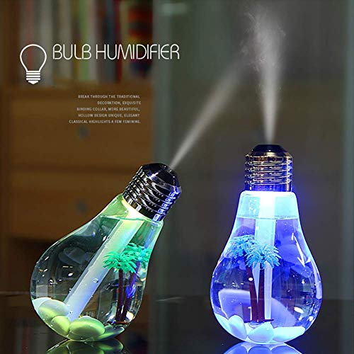 400 ml USB Lámpara Colorida Humidificador Ultrasónico