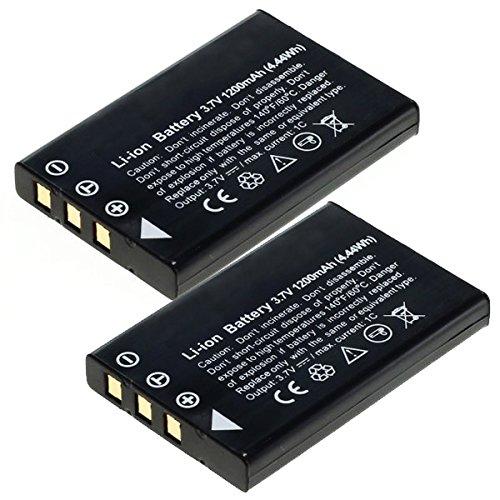 2x cellonic® batteria premium per toshiba camileo p10 p30, camileo h20 hd h10, camileo s10, camileo pro hd, toshiba pdr-t20, pdr-t30 (1200mah) np-60,pdr-bt3,px1425e-1brs batterie di ricambio, accu sostituzione, sostituto