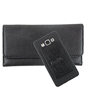 DooDa PU Leather Wallet Flip Case Cover With Card & ID Slots For Samsung Galaxy Z1 - Back Cover Not Included Peel And Paste