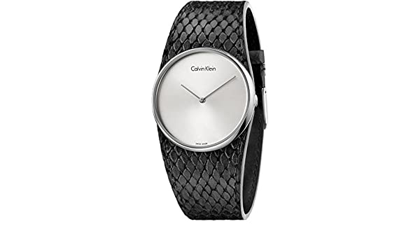 Buy Calvin Klein Spellbound Black Leather Strap K5V231C6 Online at Low  Prices in India - Amazon.in a2a13dfdeda