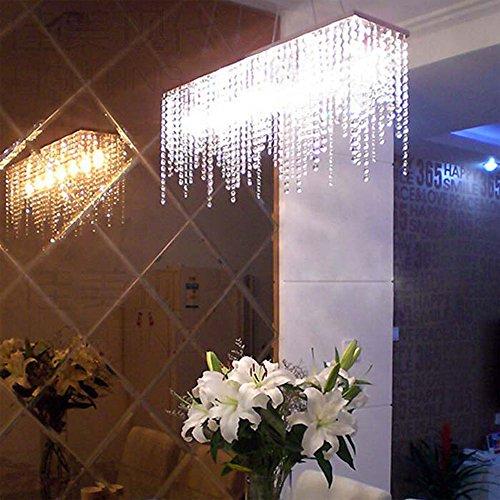 Lampadario di Cristallo Rettangolare Moderna Lampadari A Sospensione Rettangolare Soggiorno Camera da Letto