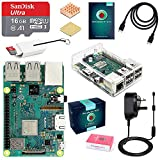 ABOX Raspberry Pi 3 B+ Model B Plus Desktop Starter Kit Clear Case 16GB Class 10 SanDisk Micro SD Card, 5V 2.5A On/Off Switch Power Supply Adapter [ 2018 Upgraded Version]