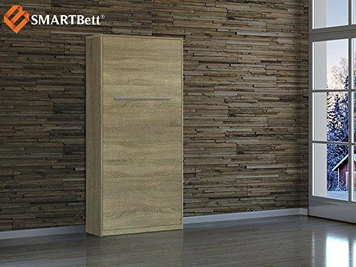 Schrankbett Smartbett Foldaway bed Murphy Bed 90x200 Vertikal in der Farbe Eiche Sonoma