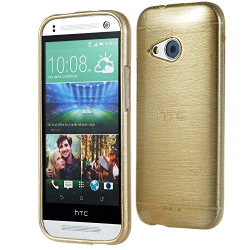 Silverback 4761 Metallic Look Schutzhülle für HTC One M8 mini 2 silikon gold