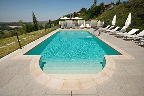 Cpa piscine kit piscina interrata 8x4 mt rettangolare fondo piano 1,50 h in casseri isoblock