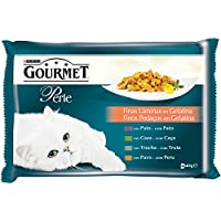 Gourmet Alimento para Gato, Húmedo, Finas Láminas en Gelatina - Pack de 4 x 85 g - Total: 340 gg