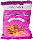 PROTEIN CHIPS | 70% weniger Fett | nur 9g Fett je 100g | im Ofen gebacken | Kartoffelchips | High Protein | 22g Eiweiß/100g | nur 211kcal pro Portion (50g) | GymQueen | 6 x 50g | Paprika