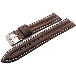 Brown Genuine Leather Water Resistant Watch Strap Band 20mm