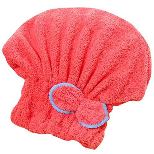 Jintes Praktische Wasserabsorption trockenes Haar Cap Bow Dekoration Home Badezimmer Zubehör Einbauduschköpfe (Hair Bows Rot)