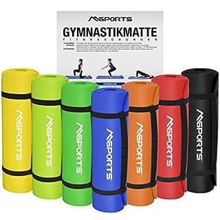 MSPORTS Gymnastikmatte Yoga | inkl. Übungsposter | 190 x 60 x 1,5 cm | Hautfreundlich - Phthalatfrei - in verschiedenen Farben | sehr weich - extra dick | Fitnessmatte (Königsblau)