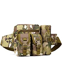 MagiDeal Utility Tactical Waist Pack Belt Bag Bum Pouch Camping Hiking Sports Bag For Men Women