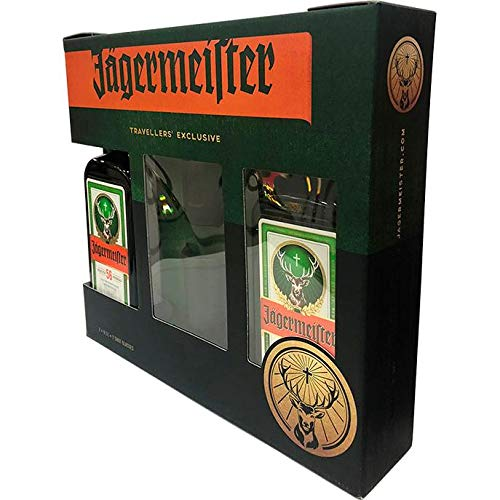 Jagermeister Jagermeister Licor 35º con 2 Vasos - 500 ml