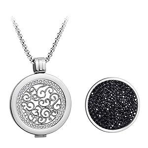 Meilanty Kette Damen, Coins 33mm Anh?nger Halskette Silber 80cm Lange Kette Geburtstagsgeschenk/Familie/Freunde/Liebhaber