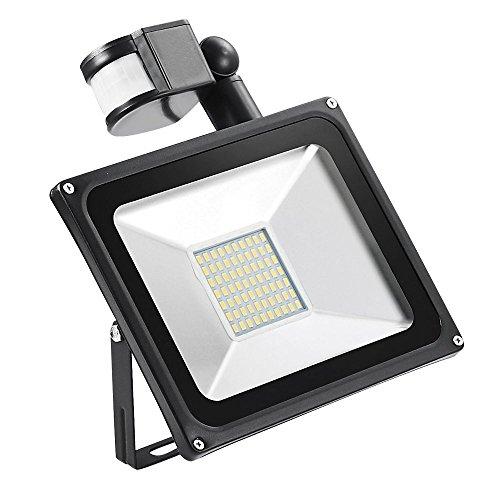 50w Foco led exterior Proyector,Foco sensor de movimiento ,Led Floodlight para Exterior...