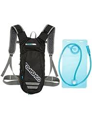 TOMSHOO Sistema de Hidratación - Pack Mochila Hidratación y 2L Bolsa De Depósito De Agua - Bolsa Ciclismo Mochila para Senderismo Camping Escalada Deportes de Bicicleta y Moto al Aire Libre