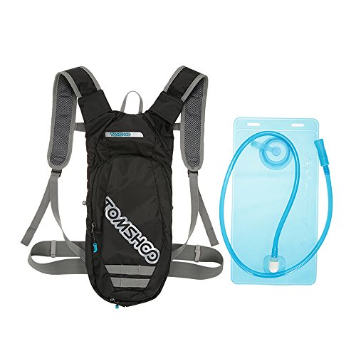TOMSHOO Mochila Hidratación con Vejiga 2L Sin BPA,Running Mochila para Correr, Ciclismo, Senderismo, Camping, Caminar, Escalada, Actividades al Aire Libre
