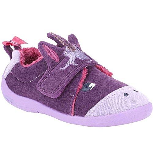 Clarks  Magical Sleep,  Mädchen Durchgängies Plateau Sandalen mit Keilabsatz , violett - violett - Größe: 41,5 EU F UK