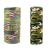 #5: Unisex 10 in1 Multifunctional Bandana, non branded combo of us flag journal & military tube Headwrap bandana for biking cyling hiking etc,, Balaclava Free Size