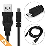 CELLONIC 2X Cable USB dato 1,5m Sony DSC-H300 -H400 -H90 DSC-W830 -W810 -W800 -W730 -W710 -W690 -W630 -W610 -W530 -W320 DSLR-A200 -A100 -A300 -A330 -A350 -A700 -A850 -A900, Cable de Carga Micro USB