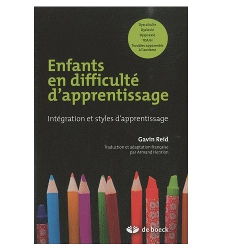 Enfants en difficult d'apprentissage intgration et styles d'apprentissage
