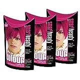 Smart Colour Haartönung, semi-permanent, Carmine Pink (Karmesin-Pink), 3Packungen