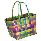 Witzgall Shopper Vintage Style 5010 15 ELKE bunt schimmernd, 37cm x 24cm x 28cm, Einkaufstasche, Einkaufsshopper