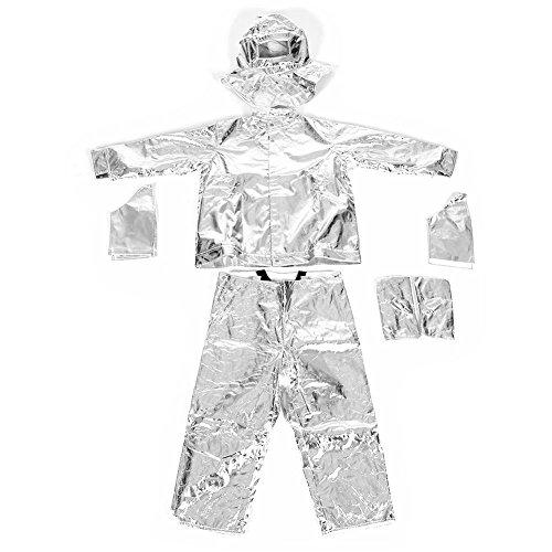 feuerfeste kleidung Strahlungsanzug Wärmestrahlung 1000 Grad hitzebeständiger aluminisierter Anzug feuerfeste Kleidung Mit starker Zugfestigkeit, Reißfestigkeit, Abriebfestigkeit