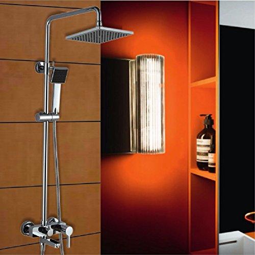 ZHGI Bagno doccia con doccetta, ugello di vasca a parete alta pressione pistola, calda e (277 Di Cristallo)