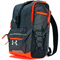Under Armour Zone Blitz fútbol/Lacrosse Mochila, Heather/Blaze Orange/Silver
