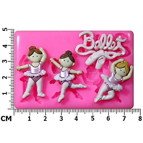 Danseuses Moule en Silicone pour décoration de gâteau/Cupcake Toppers Décoration de gâteaux glaçage pâte à sucre Outil Par les fées Blessings