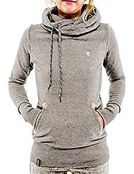 FEITONG mujer de manga larga Algodón Pullover Camisa con capucha Tops