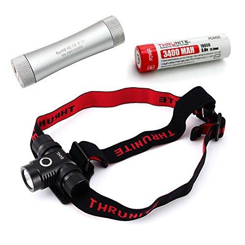 ThruNite® TH10 Kaltweiß 825 Lumen Stirnlampe CREE XP-L LED Kopflampe Bundle (TH10 XP-L CW+C2+3400*1)