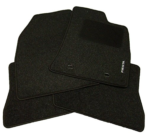 Genuine Ford Fiesta Tailor-Fit Carpet Car Mats, Black, Set of 4