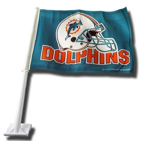 Miami Car Flag (Miami Dolphins Helmet Car Flag by Rico)