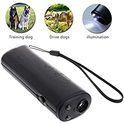 ECMQS 3 in 1 Anti Barking Stoppen Bark Dog Training LED Ultraschall Anti Rinde Bellen Hundetraining Repeller Control Trainer Gerät Heiße Neue