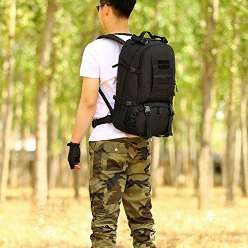 MagiDeal Sacchetto Zaino Da Campeggio Trekking Arrampicata Esercito Scuola Esterno 40L In Nylon - Deserto digitale Nero