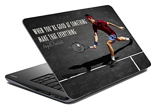 Vprint Roger Federer Laptop Skin Sticker (13 to 13.9 inch) | Famous Personalities