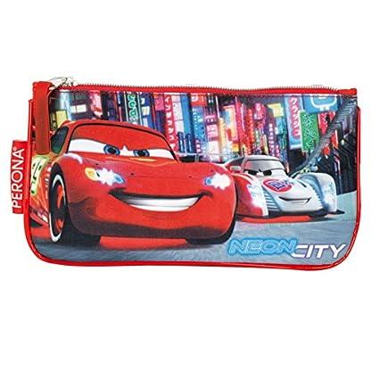 Cars – Portatodo Plano, Color Azul y Rojo (Montichelvo 21396)