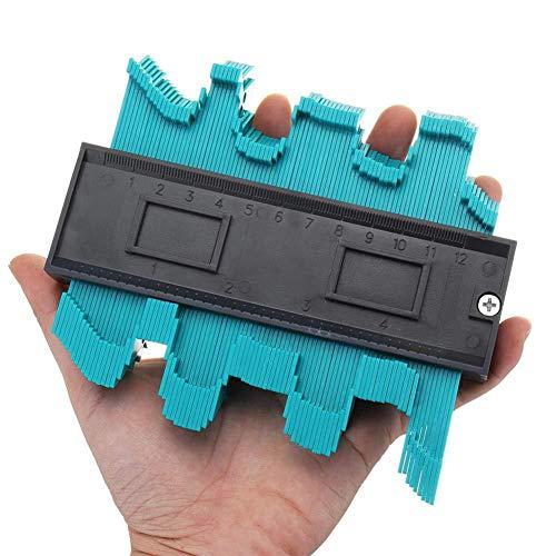 Konturlehre Duplikator Konturenmessgerät 10,2 cm, Kunststoff, Konturkopierer kreisförmiger Rahmen Profil-Werkzeug (Profile Records)