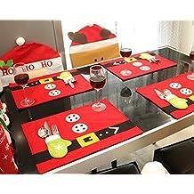 JINGBOSHI - Manteles de Navidad para Decorar mesas, Navidad, Fiestas, etc, 2