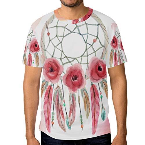 FAJRO - Camiseta de Manga Corta para Hombre, diseño de atrapasueños 1 XXL