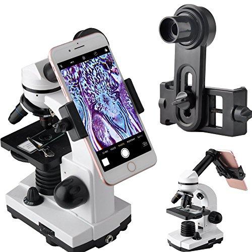 Lente di ingrandimento microscopio smartphone camera Adapter Adattatore per microscopio oculare tubo 23.2 Built WF oculare da 16