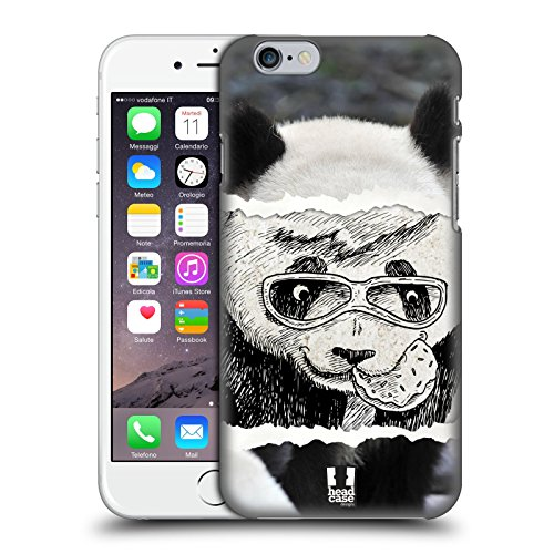 Fall + Ständer superdünn Polycarbonat Displayschutzfolie für Apple iPhone 6Plus/6S Plus/7Plus/8Plus Snap on Back Cover Cute Panda mit Brille