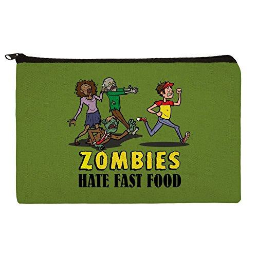 Zombies Hate Fast Food Funny Bleistift Pen Organizer Reißverschluss Pouch Fall
