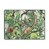 BALII Jurassic Zeitraum Watercolor Dinosaurier Kinder Bereich Teppich Matte Boden Teppich 203x 147cm, Polyester, Multi, 63