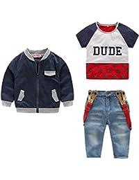 Conjunto 3 Piezas Niño Chaqueta, Jeans, Camisa 120cm