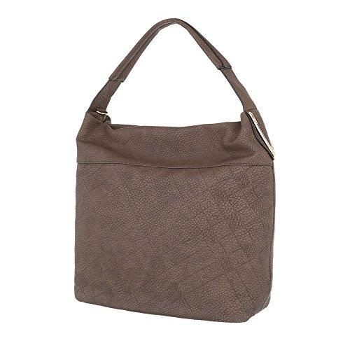 Taschen Handtasche Used Optik Braun