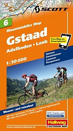 Preisvergleich Produktbild MTB-Karte 06 Gstaad 1:50.000: Mountainbike Map (Hallwag Mountainbike-Karten)