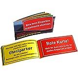 Parkzettel zum Dampfablassen - 12 Stück - 20,7 x 9,5 cm • 77080 ''Parkzettel'' von Inkognito • Künstler: INKOGNITO © Sobunthier • Dies + Das