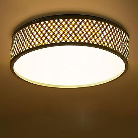 CAC Luz de techo de madera de gran diámetro (46cm]